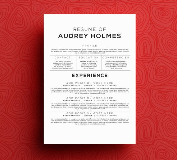 THE AUDREY HOLMES u2022 resume + cover letter package u2022 microsoft word - cover letter microsoft word