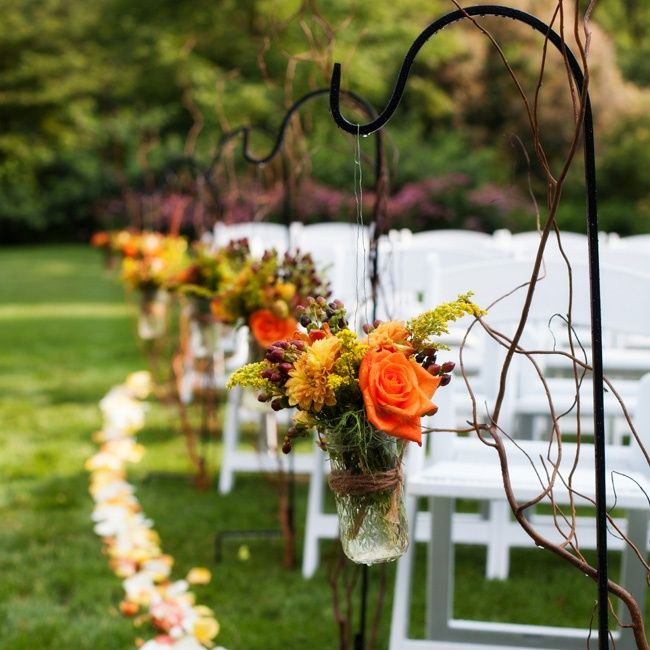 Outdoor Fall Wedding Decorations Ideas: Pin By The Knot On Aisle Decor