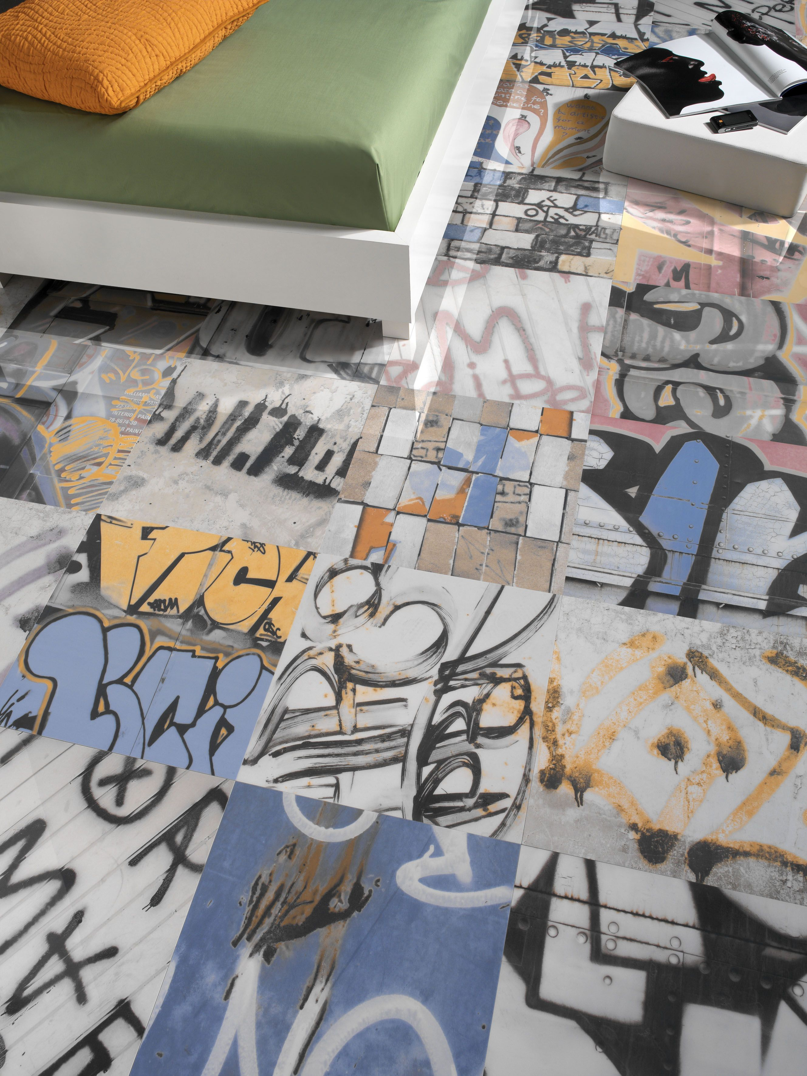 Banksy a renowned controversial grafitti artist from the uk has banksy wall and floor tiles from hydra tiles ltd call now on 01524 884 960 to purchase these stuning high gloss porcelain graffiti tiles dailygadgetfo Choice Image