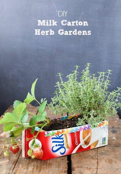 Milk Carton Herb Gardens - Tutorial - BoulderLocavore.com | How to\'s ...
