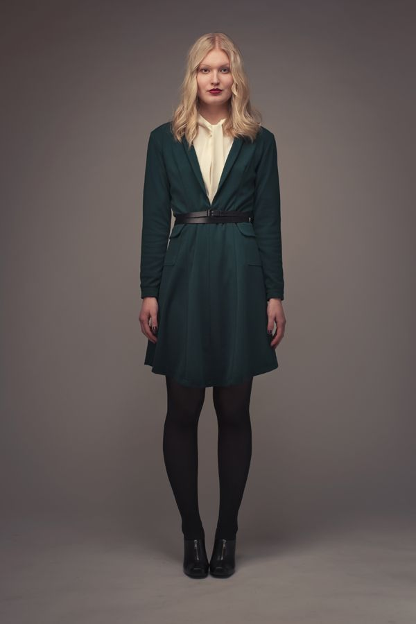 Dakota Shawl Collar Dress - Named | Patterns | Pinterest | Kleider ...