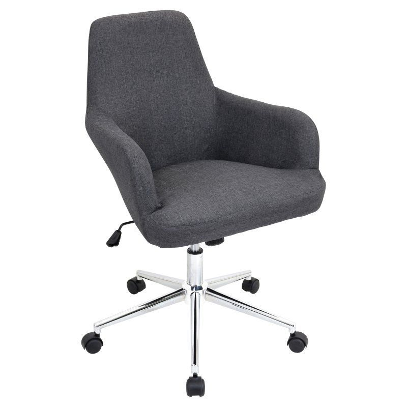LumiSource Degree Office Chair Grey - OFC-AC-DGR GY