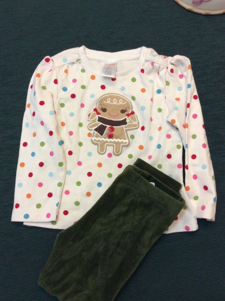 e9ce7d1a1692 Gymboree girls gingerbread top and velour leggings 3T  fashion  clothing   shoes  accessories