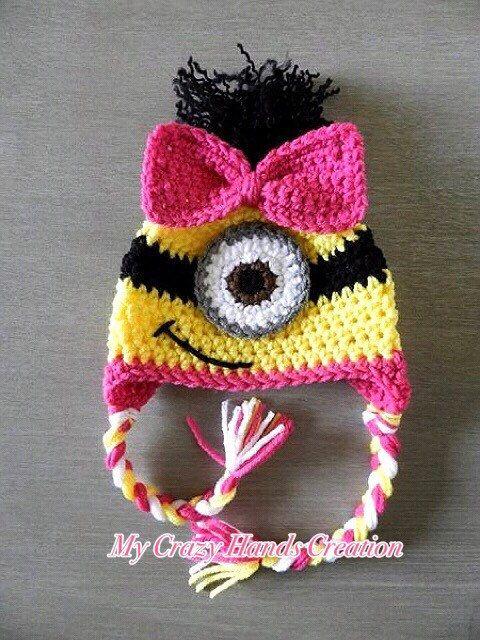 4e9f845b8f5be minion hat for girls minion hat crochet by Mycrazyhandscreation ...