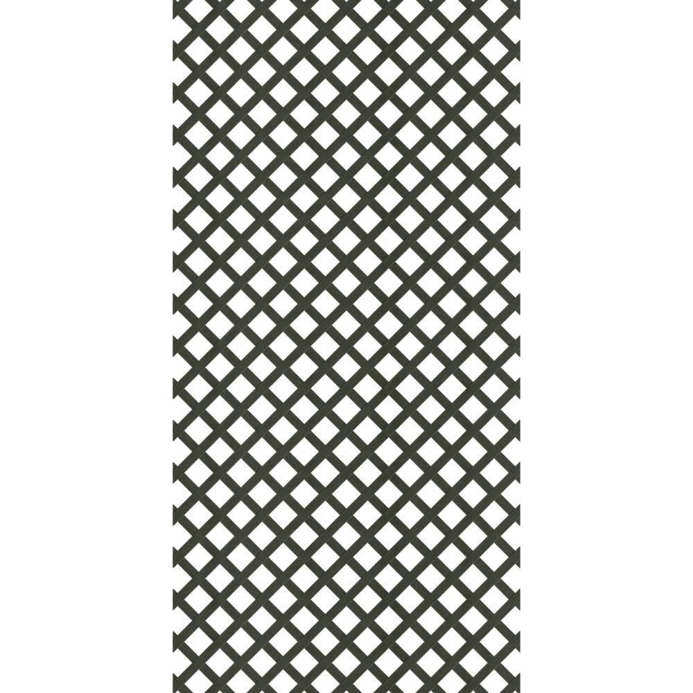 4 Ft X 8 Ft Black Garden Vinyl Lattice 189723 The Home Depot In 2020 Plastic Lattice Black Garden Lattice