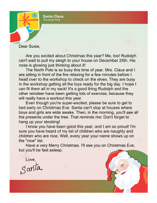 Letters From Santa Claus Free  Free Letters From Santa  Ideas