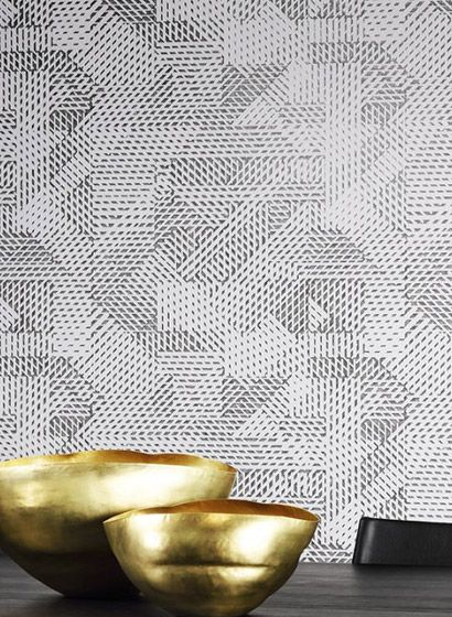 Geometrische Tapete Oblique von Arte 2862 Geometrische tapete - goldene tapete modern design