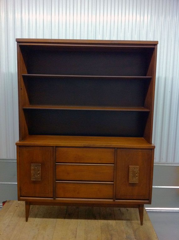 Mid Century Bassett Furniture China Cabinet Hutch by ...