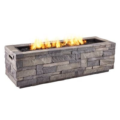 Real Flame 65 000 Btu Liquid Propane Rectangular Fire Pit Fire