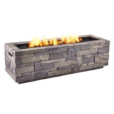 Real Flame 65 000 Btu Liquid Propane Rectangular Fire Pit Fire