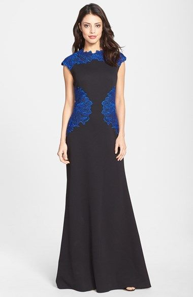 b76caa62c038 Embroidered+Texture+Neoprene+Gown   My Style   Pinterest