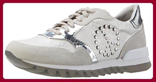 Tamaris Damen 23614 Sneakers, Weiß (Offwht.Str.Com 119), 39