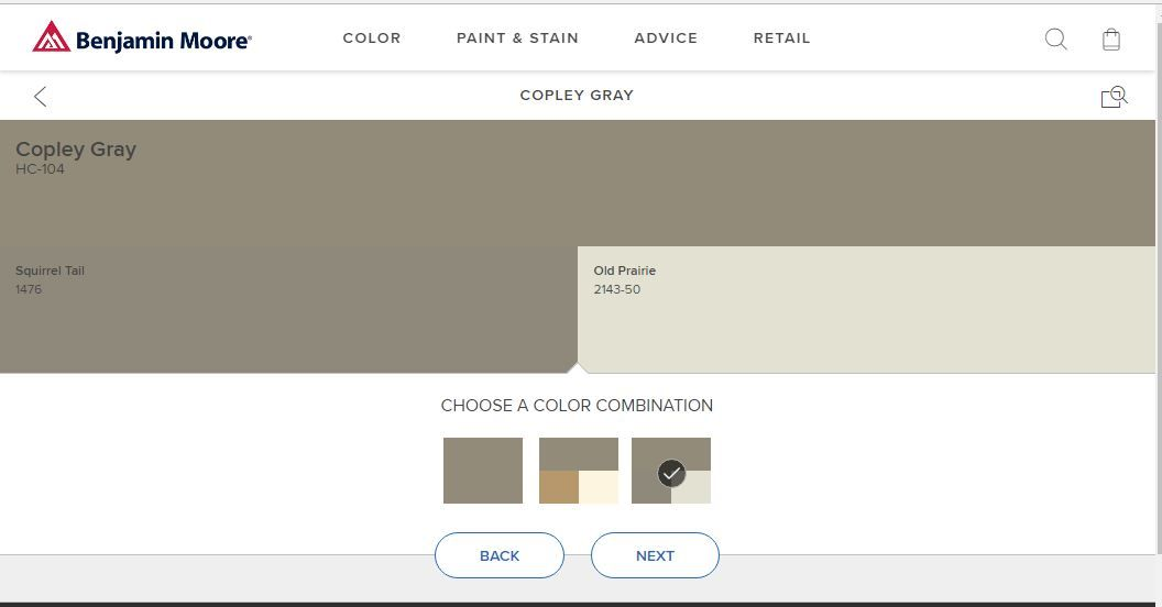 Copley Gray Squirrel Tail Old Prairie Benjamin Moore Colors Copley Gray Paint Stain