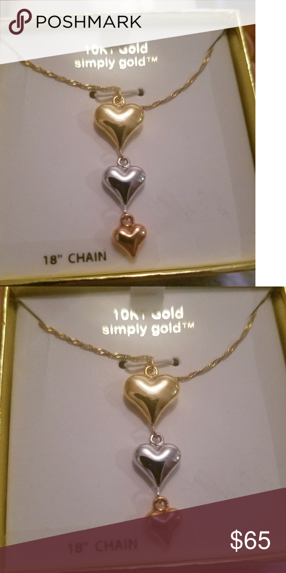 10kt Gold Heart Pendant And Necklace Heart Pendant Gold Heart Pendant 10kt Gold