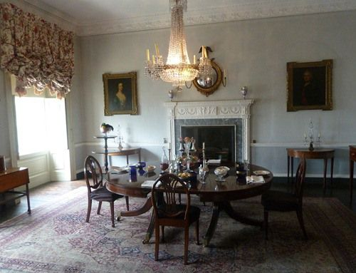 The Dining Room In The Georgian House In Bristol