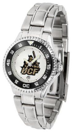 UCF (Central Florida) Knights Competitor Ladies Watch with Steel Band by SunTime. $85.45. Showcase the hottest design in watches today! The functional rotating bezel is color-coordinated to compliment the NCAA Central Florida Golden Knights logo. The Competitor Steel utilizes an attractive and secure stainless steel band.