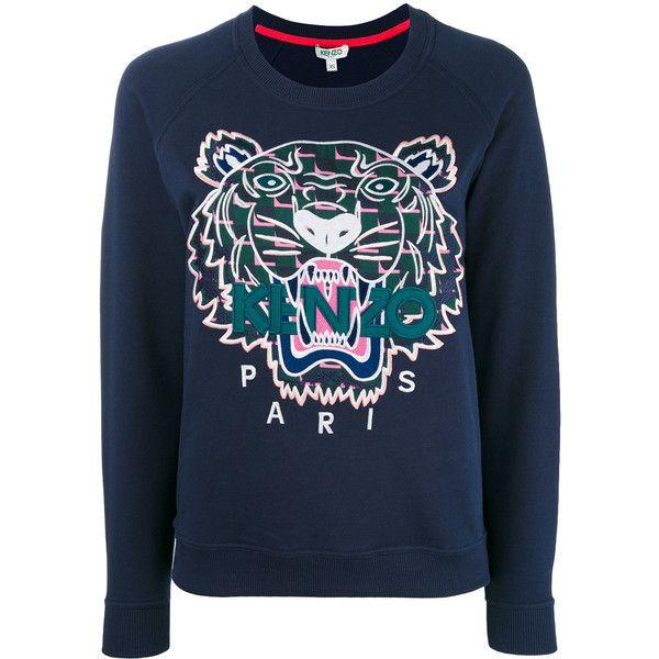 Kenzo tiger print sweatshirt (17.745 RUB) via Polyvore