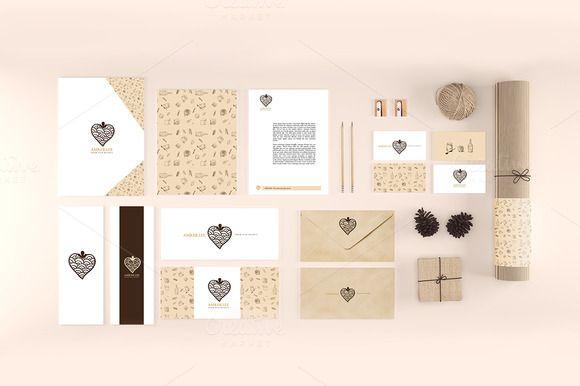 Organic Stationery/Branding Mock-Up by KatjaPotokar on @creativemarket