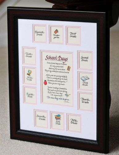 School Days Years Photo Picture Mat with Cherry Frame 11x14 Girl ...