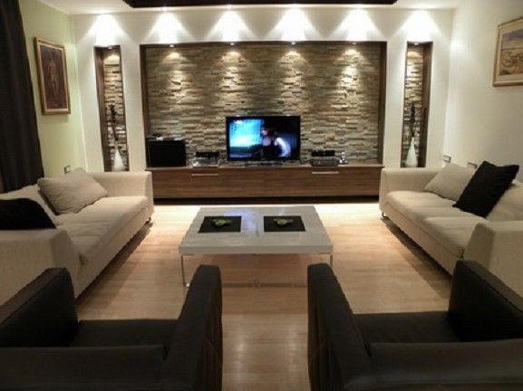 Wall TV Units In Modern Living Room Interior Decorating Designs Ideas