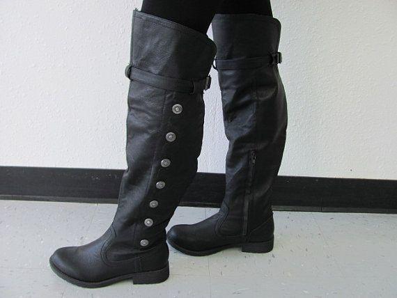 9941d199ae7d7 Men's Landon Medieval Boots, Renaissance Boots, Boots, Knee High ...