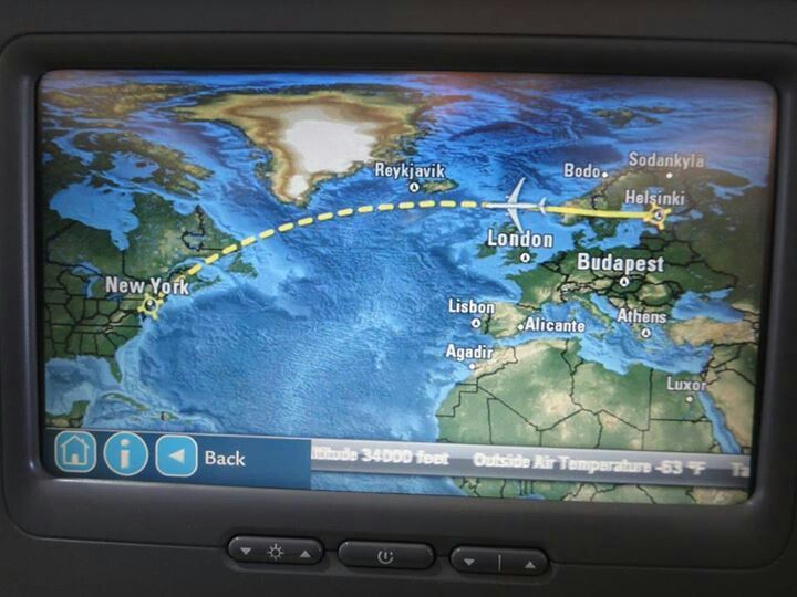 Flight map on Finnair. Cool!