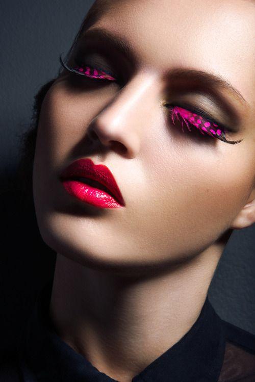 Lash Factor–Posing in a beauty shoot photographed byJeff Tse,...