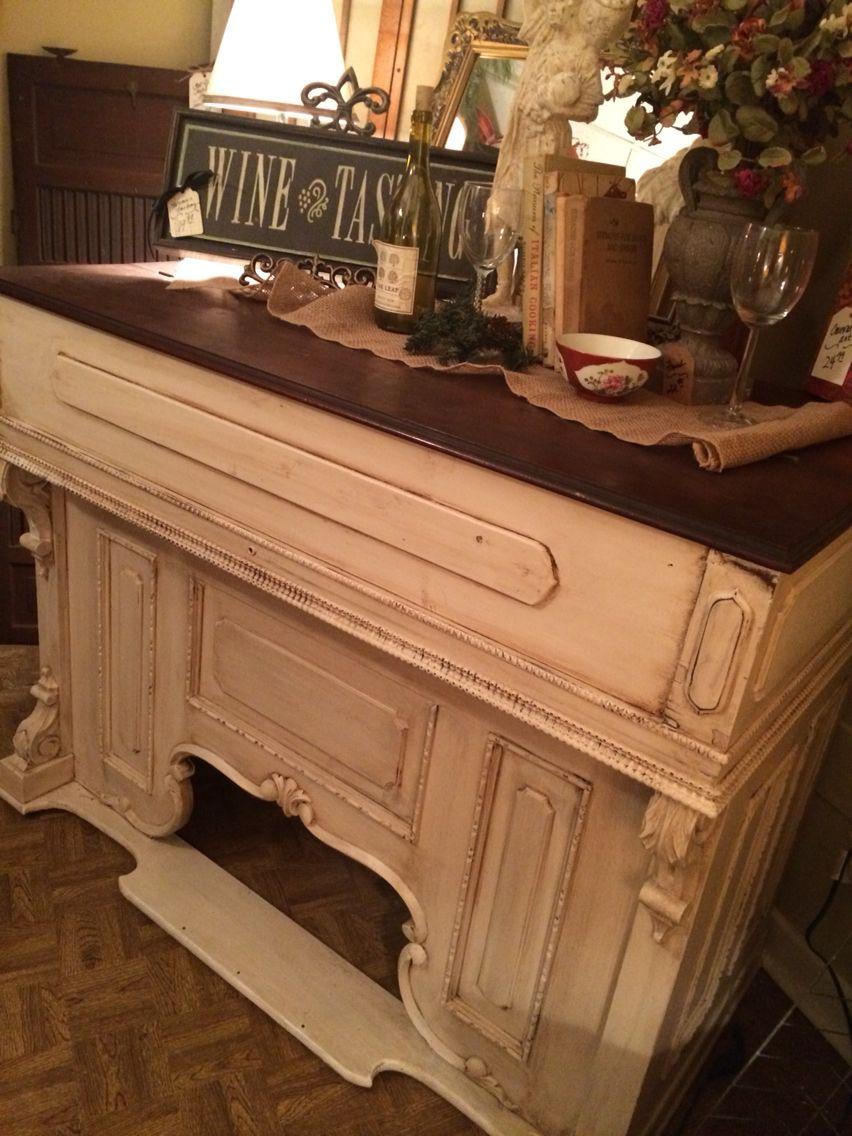 Antique Pump Organ Turned Kitchen Island Piano Decor