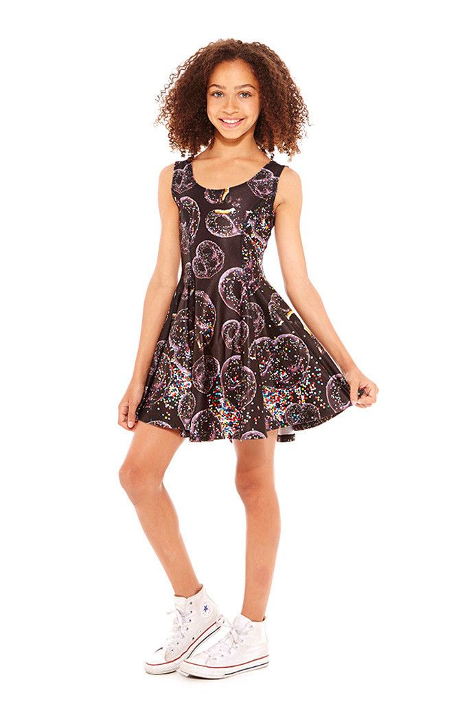 2b1c54bca57c Girls Chocolate Covered Pretzels Skater Dress