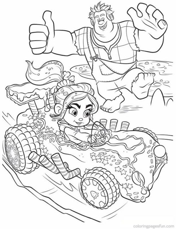 Vanellope Racing Cartoon Coloring Pages Cool Coloring Pages Disney Coloring Pages