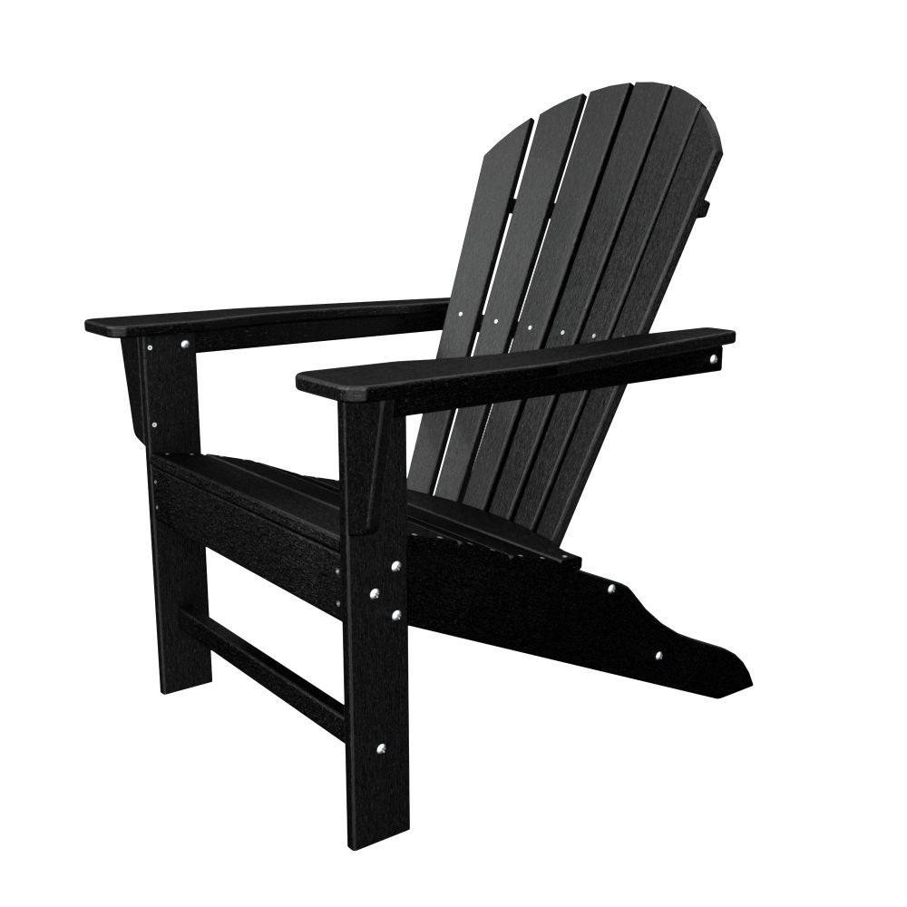 Polywood South Beach White Plastic Patio Adirondack Chair Sba15wh The Home Depot Recycled Plastic Adirondack Chairs Plastic Adirondack Chairs Beach Adirondack Chairs