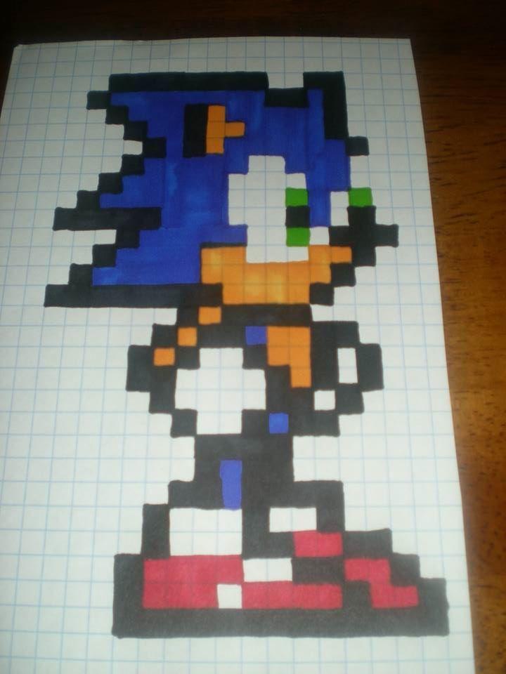 8 Bit Simple Sonic Pattern By Cheri Sampson Inspiration