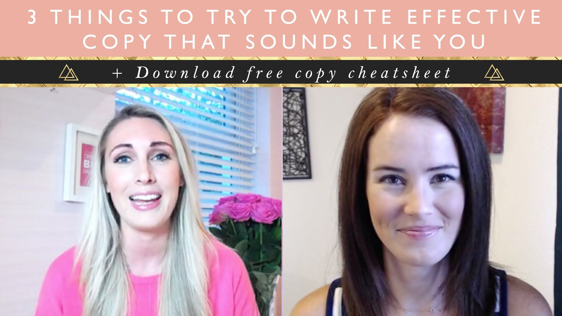 How to write effective copy that sounds like YOU + free cheatsheet