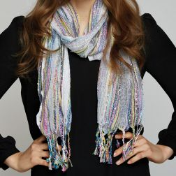 A great little scarf with just a hint of sparkle.  Available in several colors  - from Two's Company.