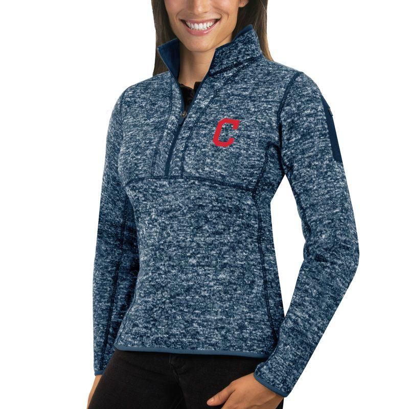 Cleveland Indians Antigua Women's Fortune Half-Zip Pullover ...
