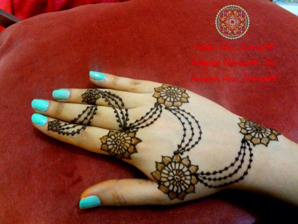 Henna Mehndi New Design : Beautiful jewellery style henna mehndi by