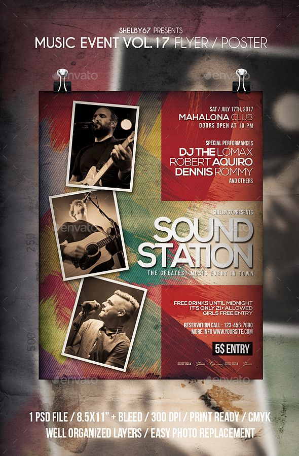 Music Event Flyer  Poster Vol   Event Flyers Flyer Template