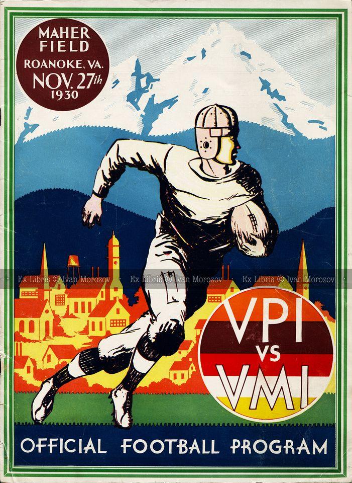 1930.11.27. Virginia Tech vs VMI. Hokies Football