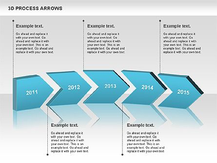 Presentation Process Templates D Process Arrows For Presentations