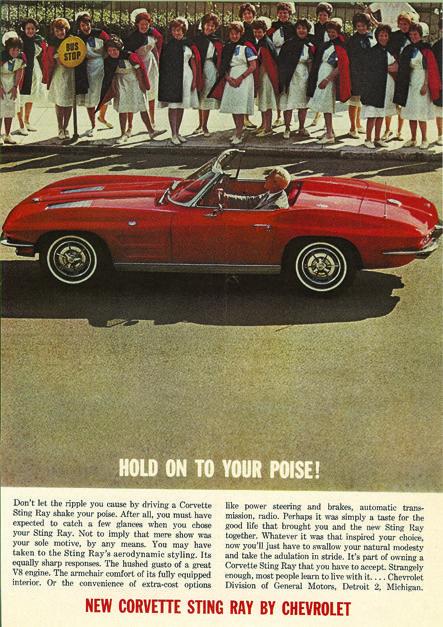 1963 Chevrolet Corvette Stingray Ad Corvette Classic Cars