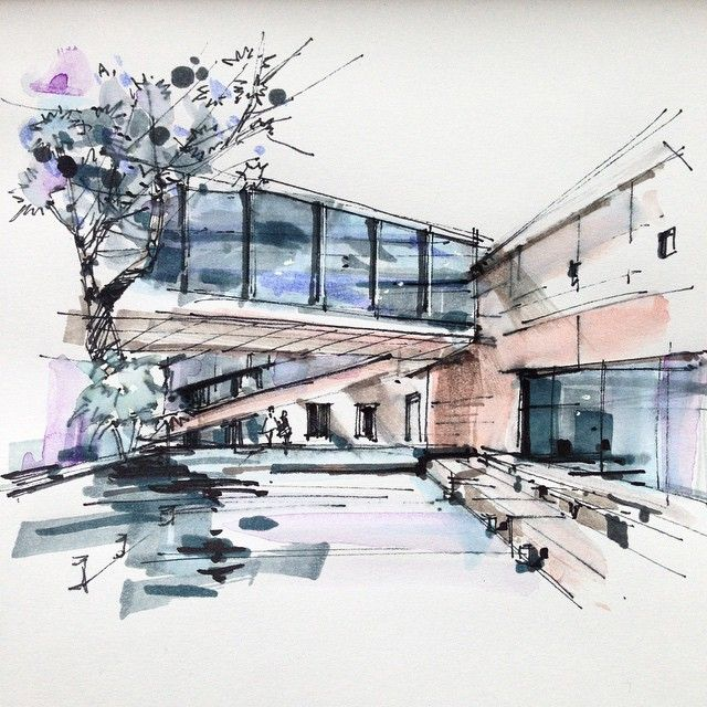 Modern sketch powered by jeffthings architecture for Architecture sketch
