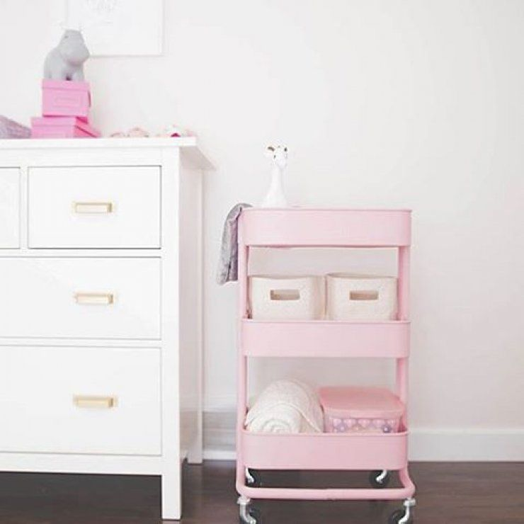 Painted IKEA craft cart This pink is dreamy  Colors