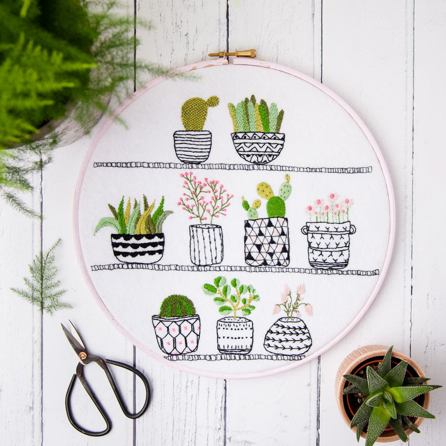Rosie S House Plants Hand Embroidery Hoop Succulents Pdf Instant Download Pattern Hand Embroidery Kit Embroidery Kits Hand Embroidery