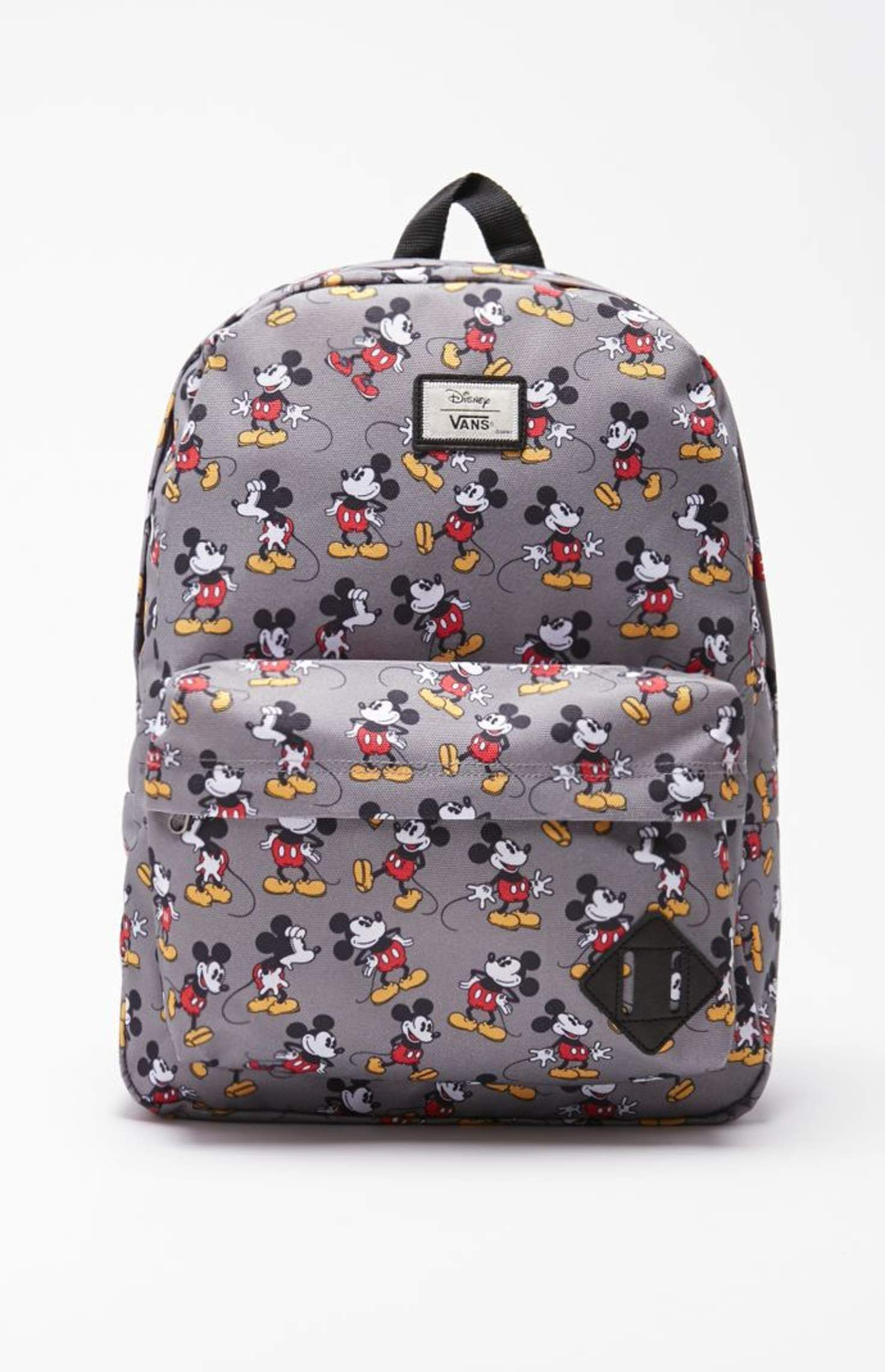 Vans - Disney Old Skool II Mickey Mouse School Backpack - Mens Backpacks -  Gray - NOSZ 81f1c6311e935