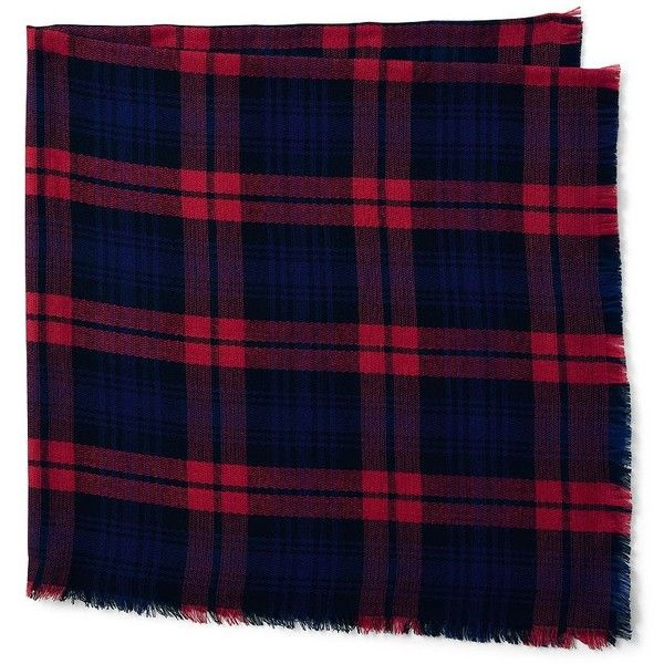 Lands' End Women's Plaid Square Scarf - CashTouch (€35) ❤ liked on Polyvore featuring accessories, scarves, tartan shawl, plaid scarves, lands end scarves, tartan scarves and tartan plaid shawl