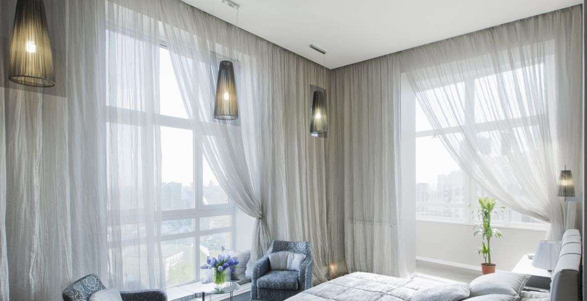 bedroom blinds curtains - Sheer Drapes