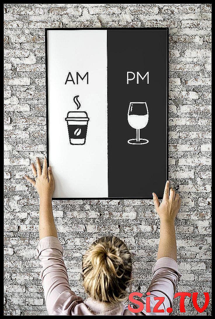 Uhr druckbare Kunst K che Poster Kaffee 038 Wei Digital Download druckbare Etsy home ...