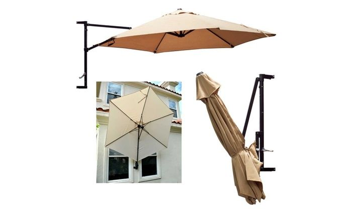 Apontus Offset Wall Mount Patio Umbrella Patio Umbrella Patio Cantilever Patio Umbrella