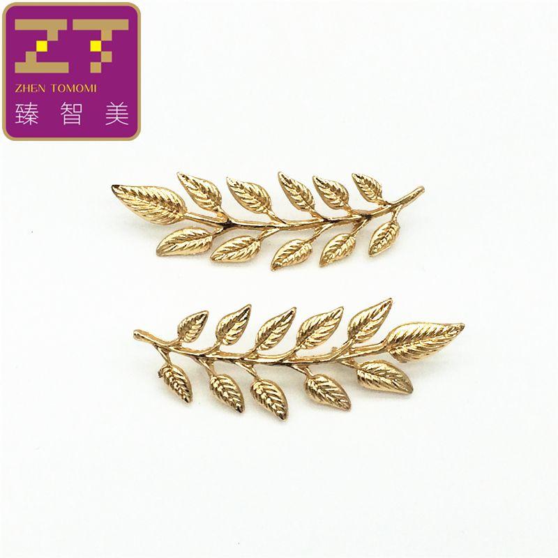 Retro hojas traje XZ024 2016 nueva caliente de la manera camisa de cuello cuello hebilla de broche de joyería regalos para los hombres y las mujeres del envío gratis