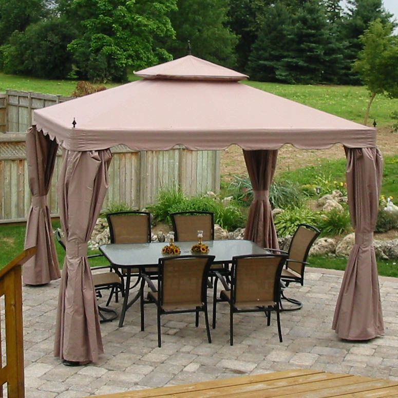 Costco Home Casual 10 X 10 Finial Gazebo Replacement Canopy Patio Gazebo Gazebo Patio